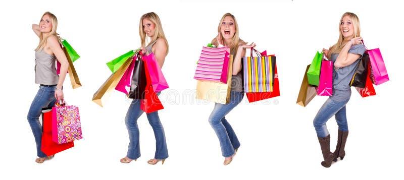 Muchacha de compras imagen de archivo libre de regalías