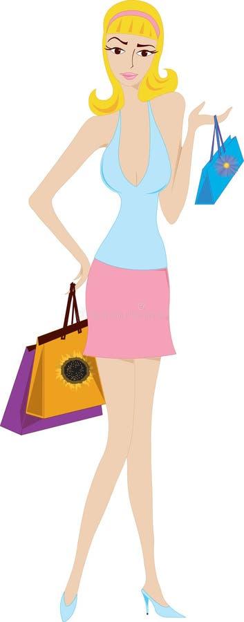 Muchacha de compras libre illustration