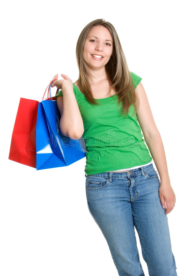 Muchacha de compras hermosa foto de archivo libre de regalías