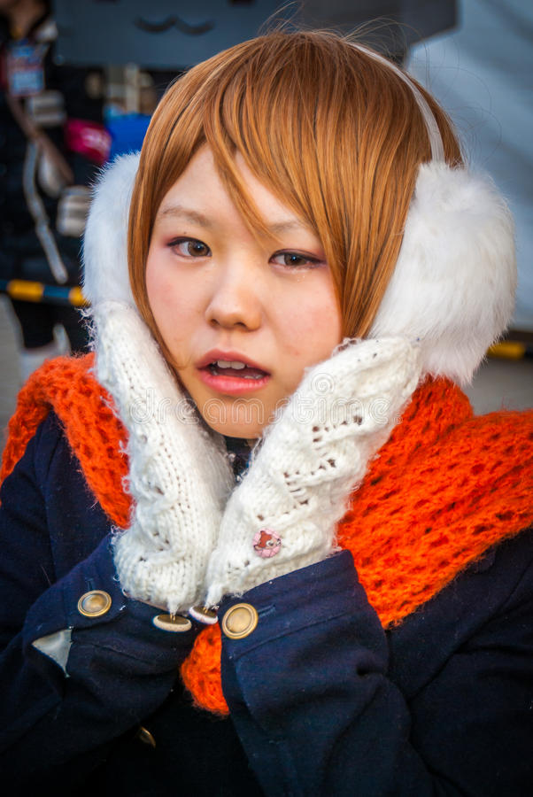 Muchacha de Cosplay en Tokio fotografía de archivo