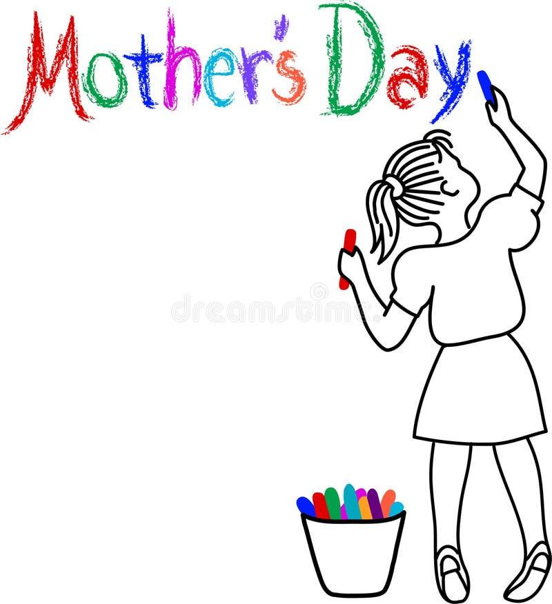 Muchacha de día de madre libre illustration