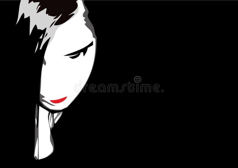 Muchacha de Emo ilustración del vector