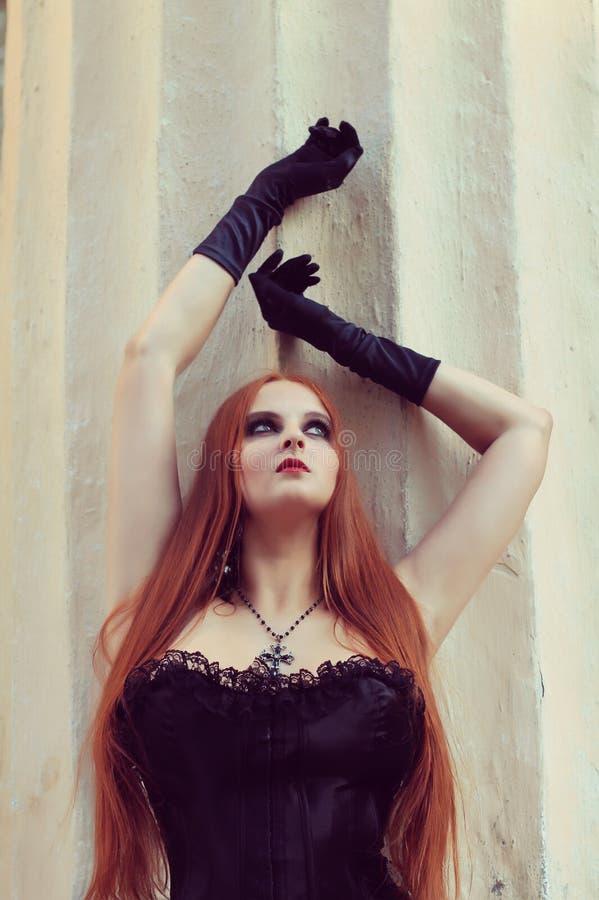 Muchacha de Goth fotografía de archivo