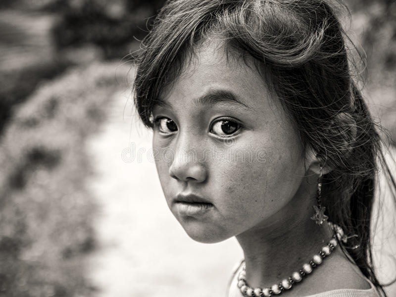 Muchacha de Hmong de Sapa, Vietnam imagen de archivo libre de regalías