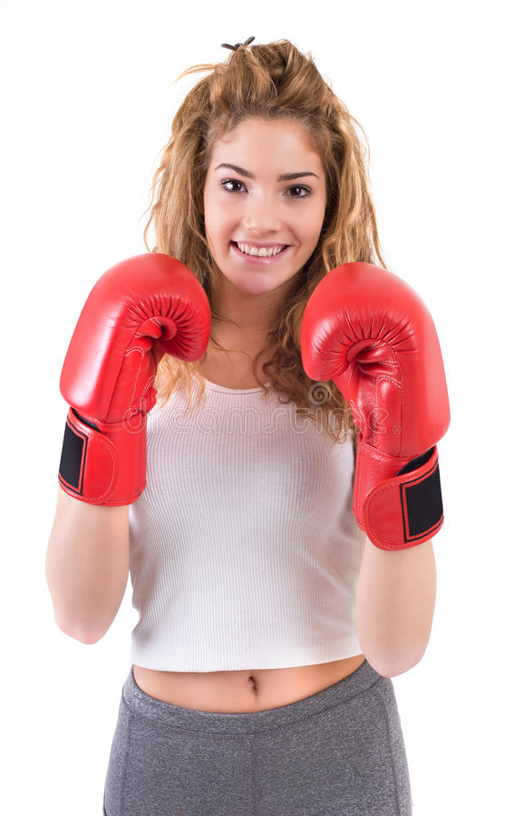 Muchacha de Kickboxing imagen de archivo