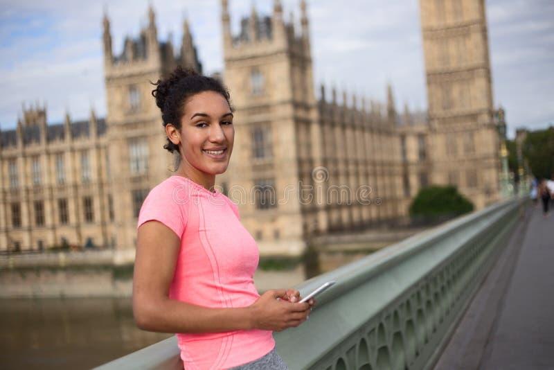Muchacha de la aptitud en Londres imagen de archivo libre de regalías