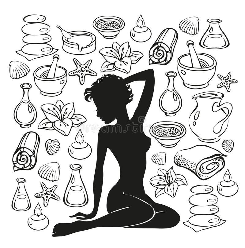 Muchacha de la belleza libre illustration