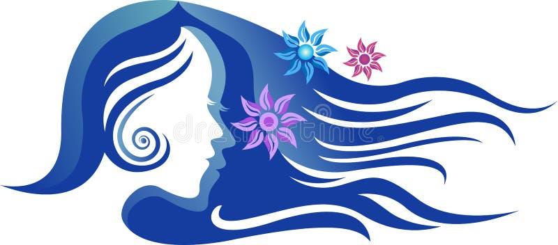 Muchacha de la belleza con diseño largo del pelo libre illustration