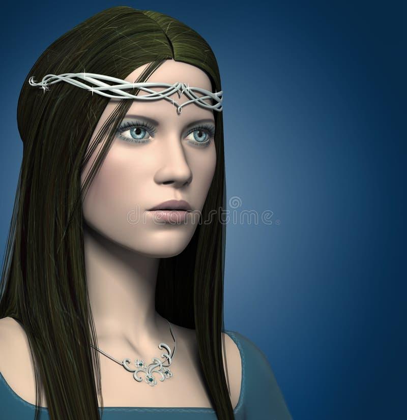 muchacha de la fantasía 3d stock de ilustración