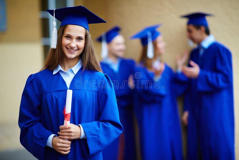 Muchacha de la graduación imágenes de archivo libres de regalías