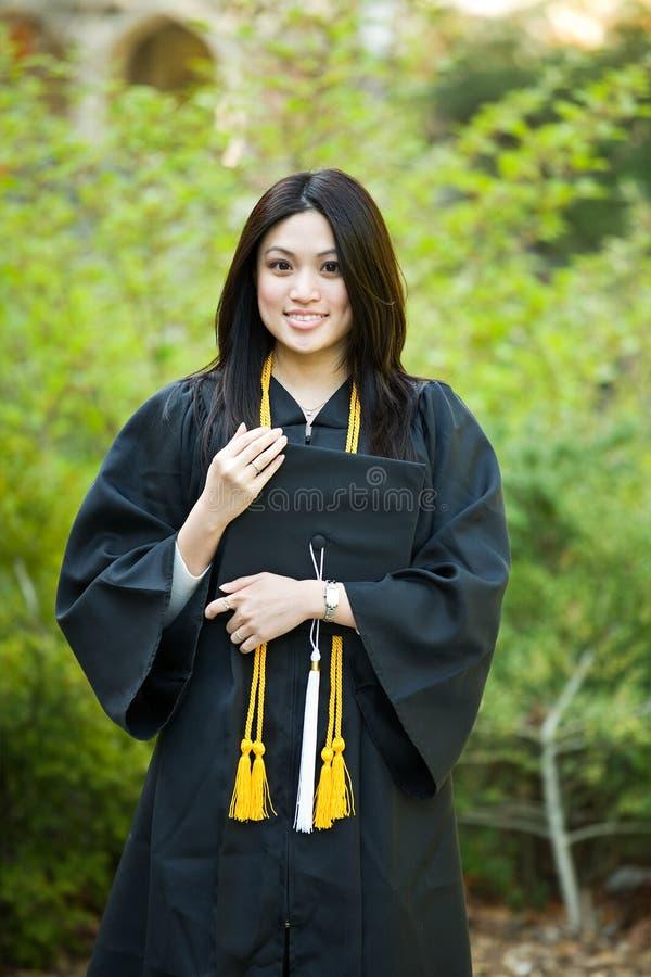 Muchacha de la graduación foto de archivo libre de regalías