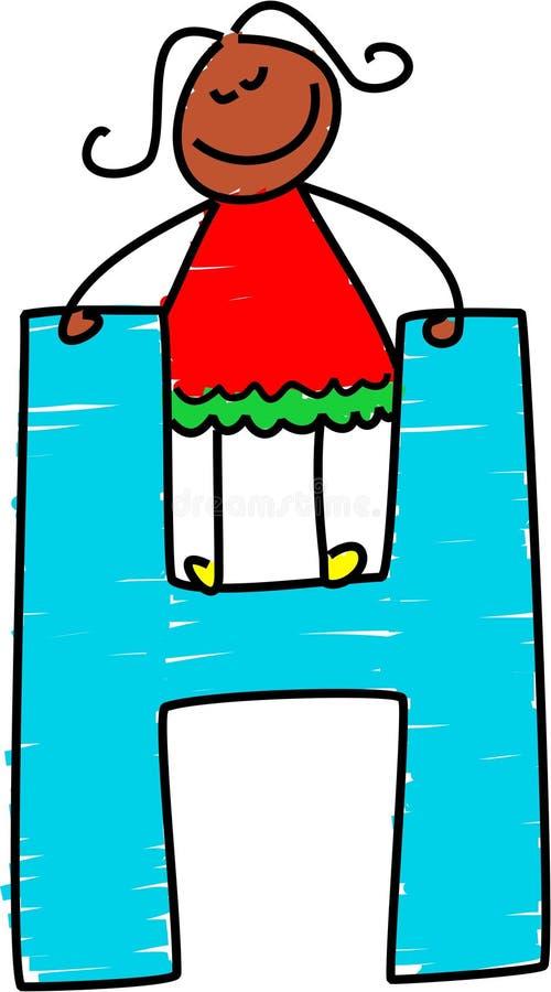 Muchacha de la letra H libre illustration