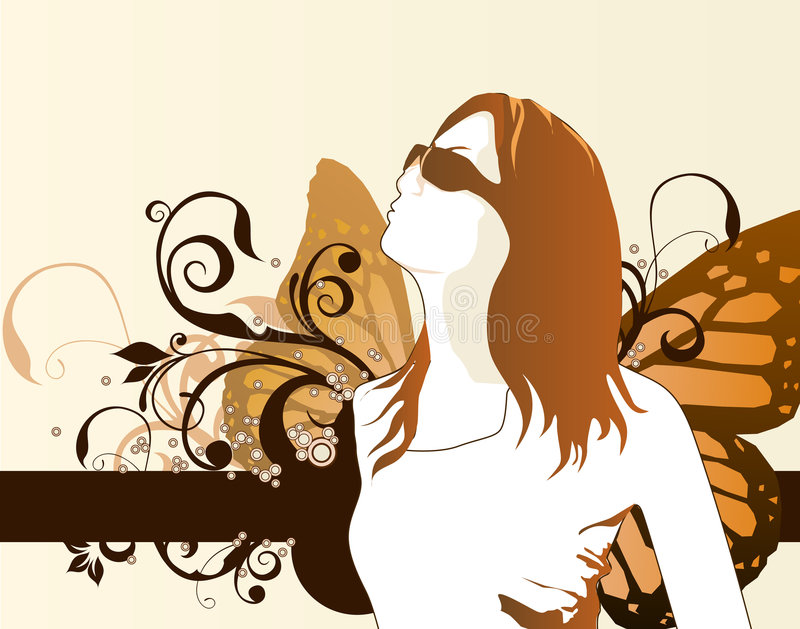 Muchacha de la manera libre illustration