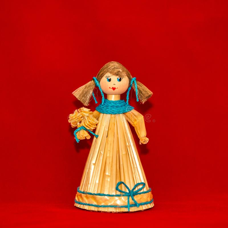 Muchacha de la marioneta de la paja fotografía de archivo libre de regalías