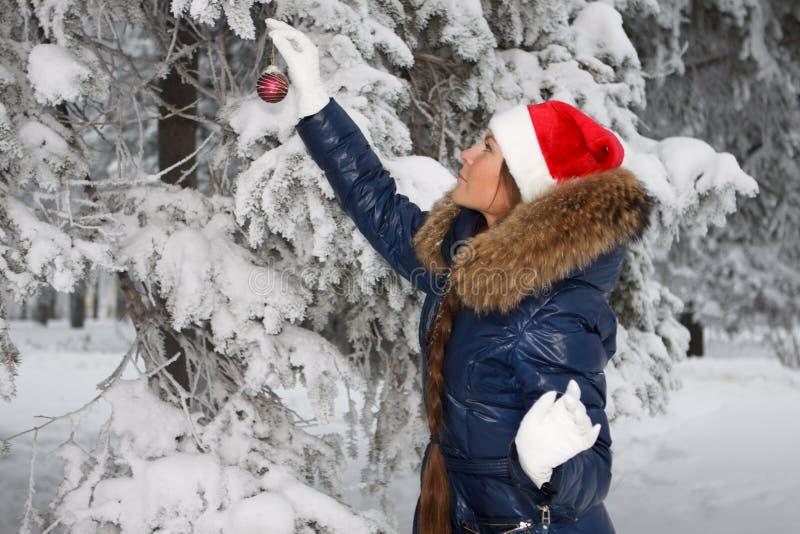 Muchacha de la Navidad. imagen de archivo libre de regalías