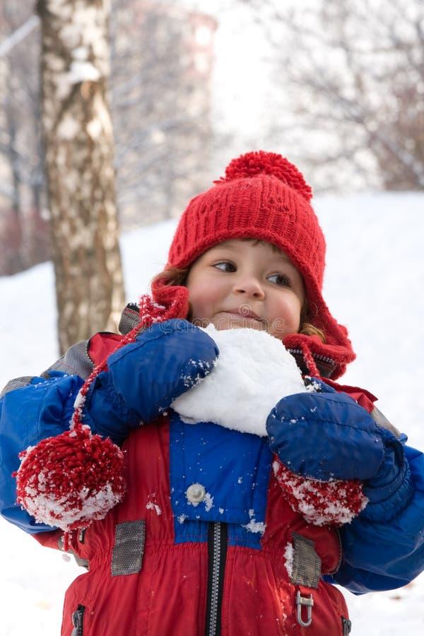 Muchacha de la nieve imagen de archivo libre de regalías
