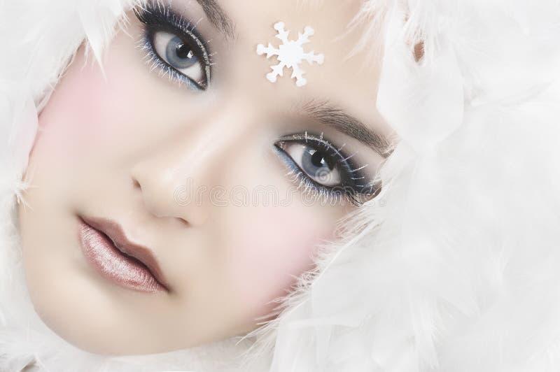 Muchacha de la nieve imagen de archivo