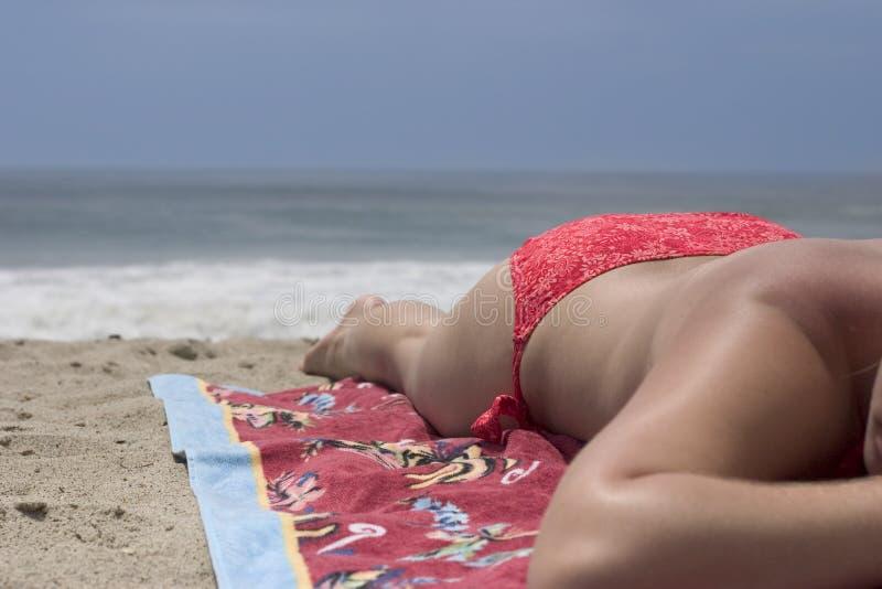 Muchacha de la playa imágenes de archivo libres de regalías