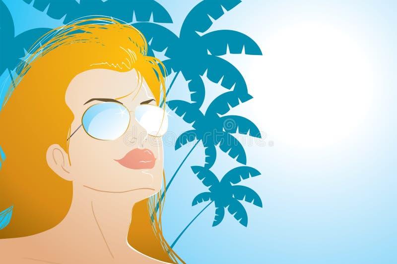 Muchacha de la playa ilustración del vector