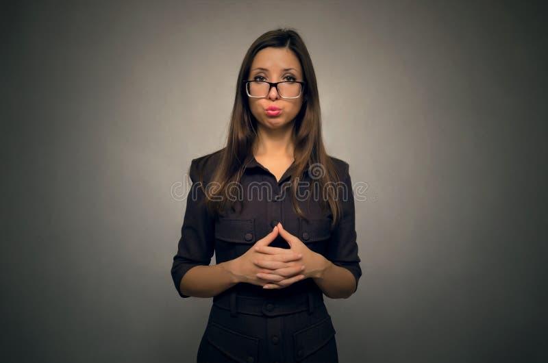Muchacha de la secretaria foto de archivo libre de regalías