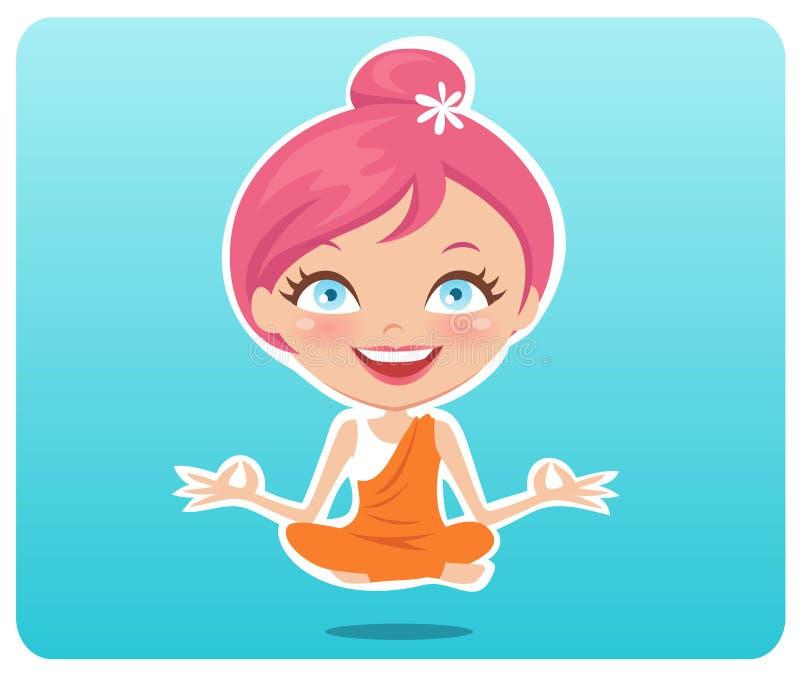 Muchacha de la yoga stock de ilustración