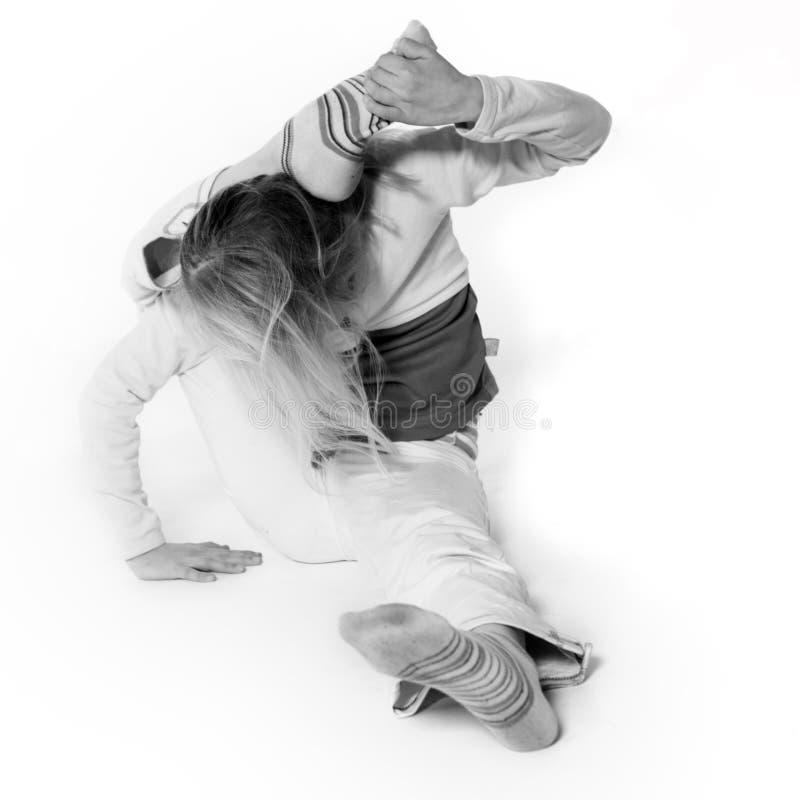 Muchacha de la yoga foto de archivo