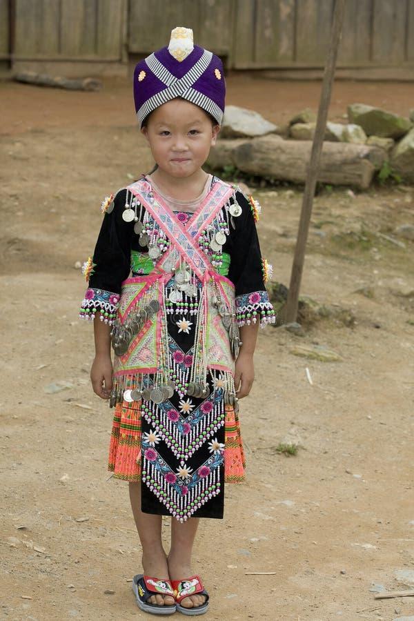 Muchacha de Laos Hmong fotos de archivo libres de regalías