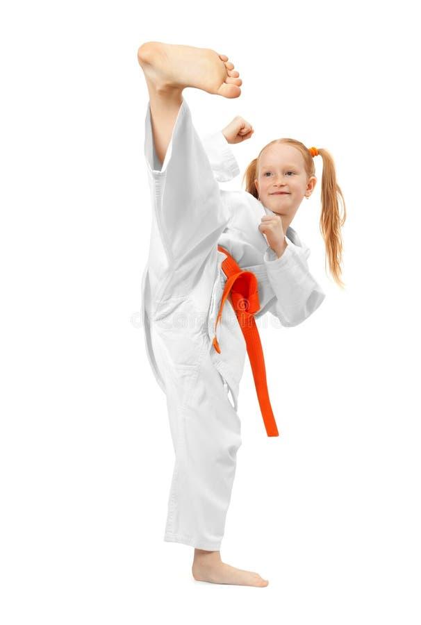 Muchacha de los artes marciales fotos de archivo