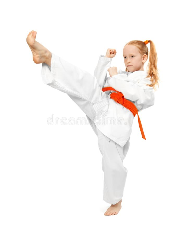 Muchacha de los artes marciales fotografía de archivo