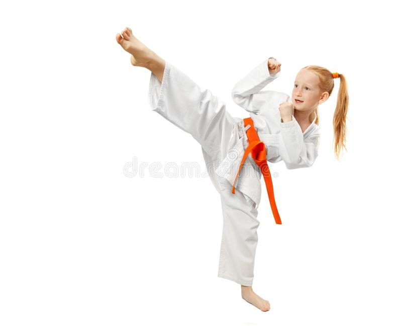 Muchacha de los artes marciales fotos de archivo libres de regalías