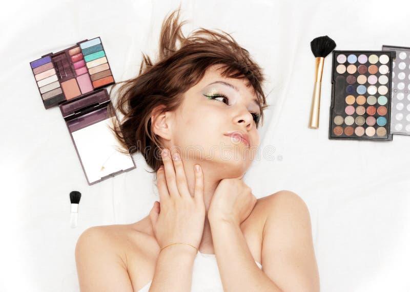 Muchacha de maquillaje imagen de archivo libre de regalías