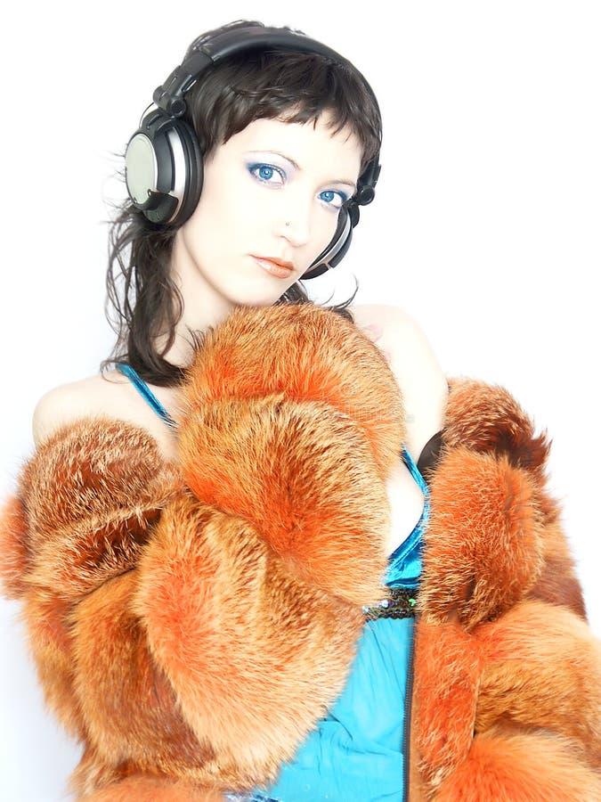 Muchacha de moda de DJ fotografía de archivo