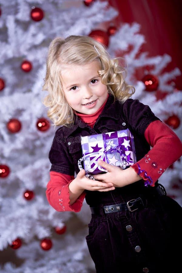 Muchacha de Navidad imagenes de archivo