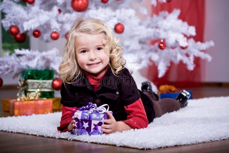 Muchacha de Navidad fotos de archivo libres de regalías
