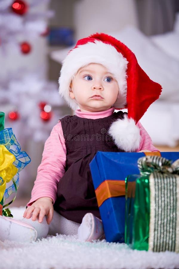 Muchacha de Navidad imagen de archivo