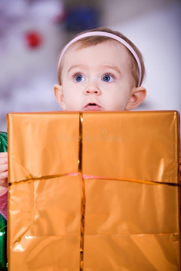Muchacha de Navidad foto de archivo