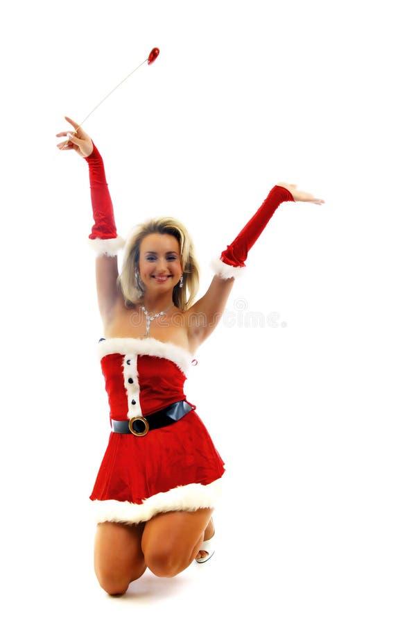 Muchacha de Papá Noel imagen de archivo libre de regalías