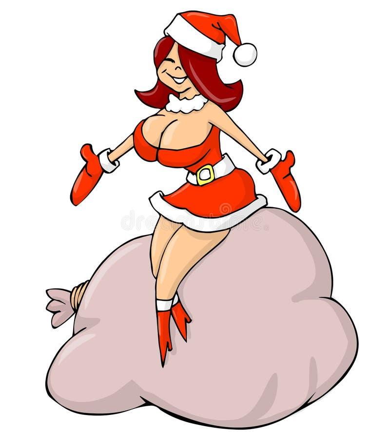 Muchacha de Papá Noel ilustración del vector