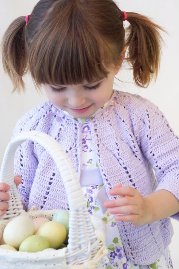 Muchacha de Pascua foto de archivo libre de regalías
