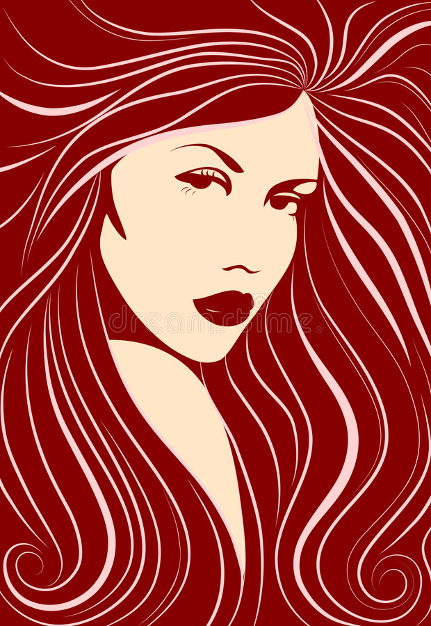 Muchacha de pelo largo. libre illustration