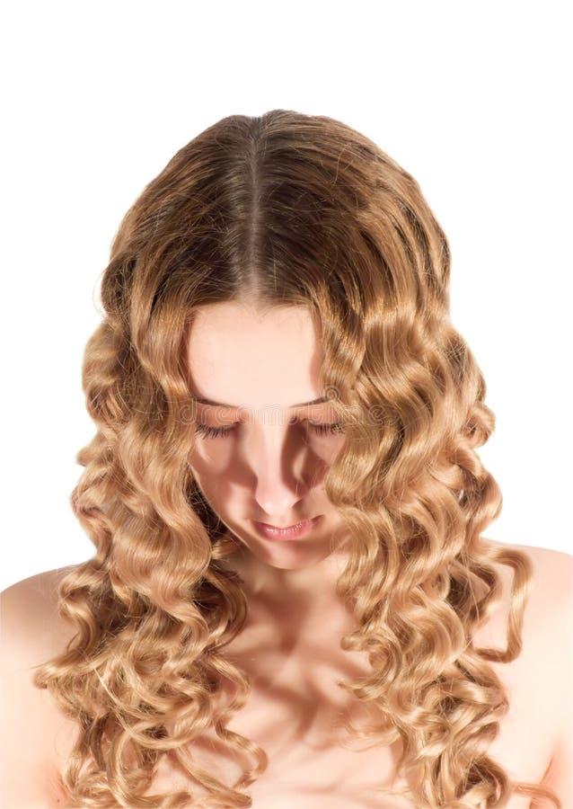Muchacha de pelo largo foto de archivo