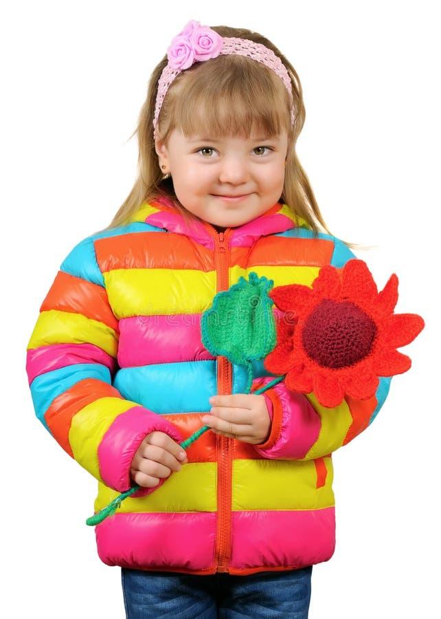 Muchacha de tres años sonriente fotos de archivo libres de regalías