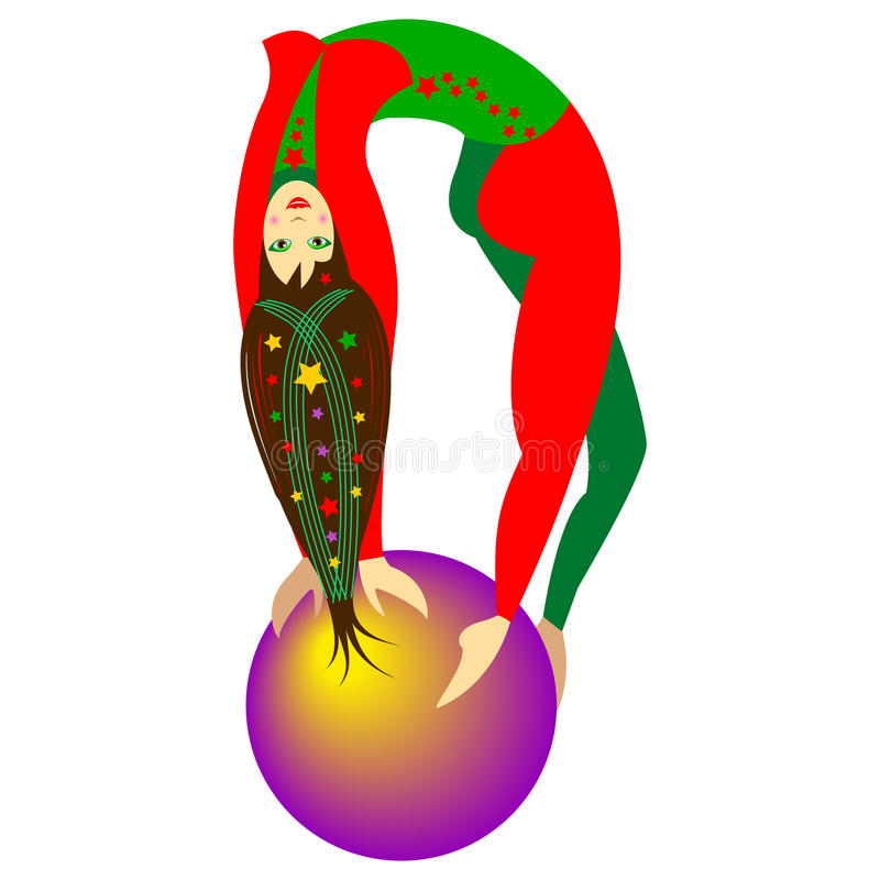 Muchacha del acróbata de circo ilustración del vector