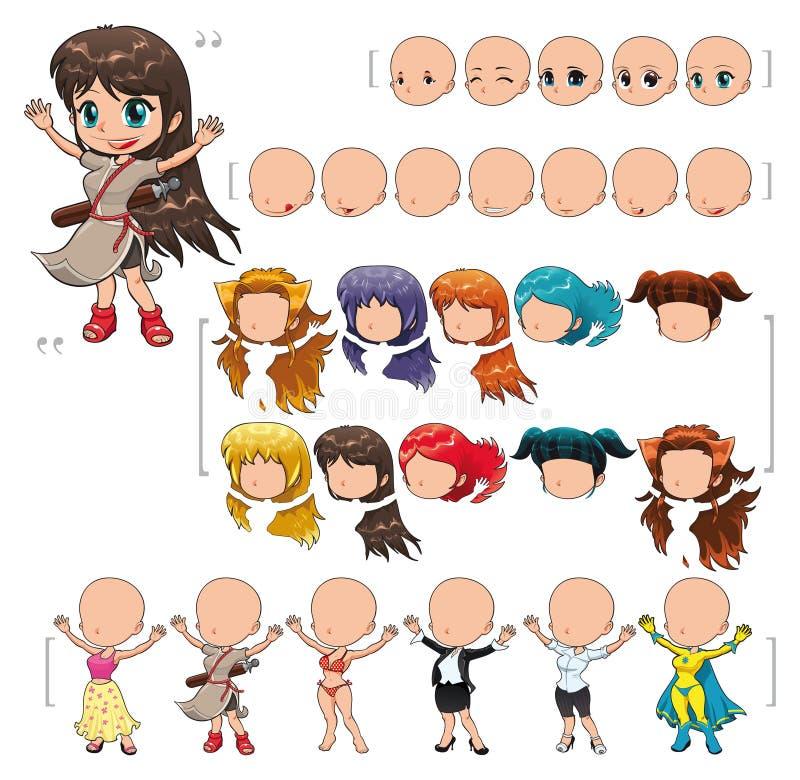 Muchacha del avatar ilustración del vector