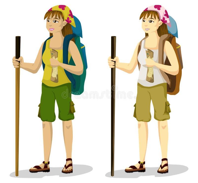 Muchacha del Backpacker libre illustration