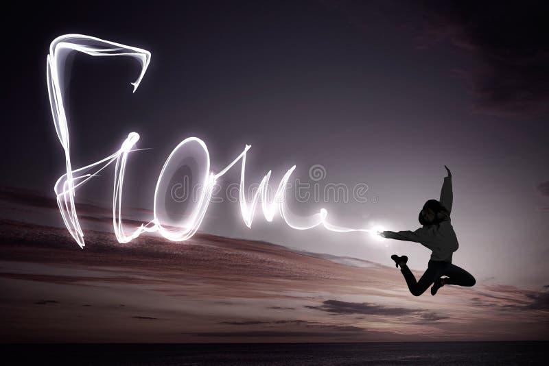 Muchacha del bailarín en salto imagen de archivo libre de regalías