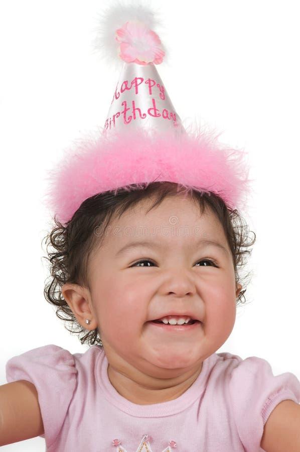 Muchacha del cumpleaños imagen de archivo