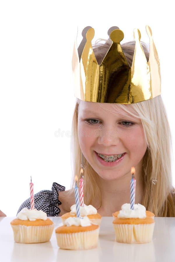 Download Muchacha del cumpleaños foto de archivo. Imagen de blanco - 7281846