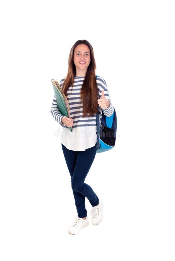 Muchacha del estudiante del adolescente imagenes de archivo