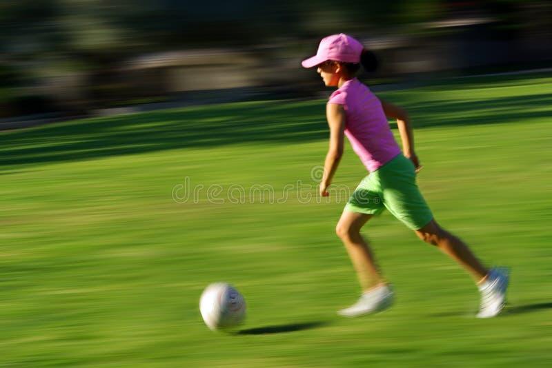 Muchacha del fútbol foto de archivo
